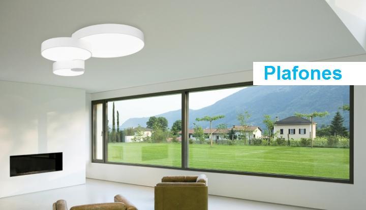 Ayora iluminaci n l mparas led apliques ventiladores for Plafones exterior iluminacion