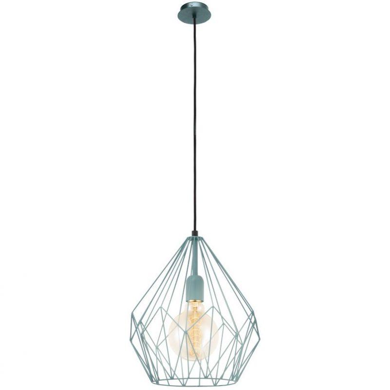 Lámpara-colgante-Eglo-Vintage-azul-Ayora-Iluminación