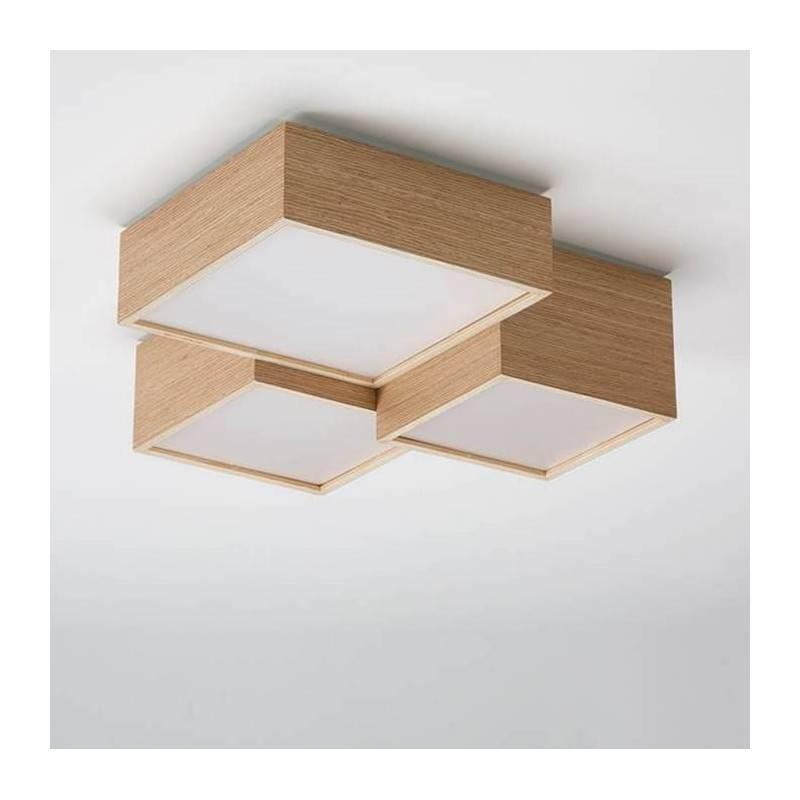 Lámpara-plafón-Kube-roble-OlebyFM-Ayora-Iluminación