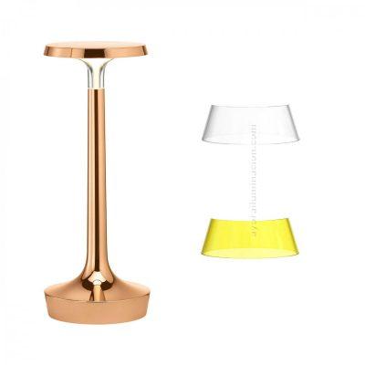 bon-jour-unplugged-flos-corona-transparente-amarillo-philippe-starck-sin-cable-ayora-iluminacion