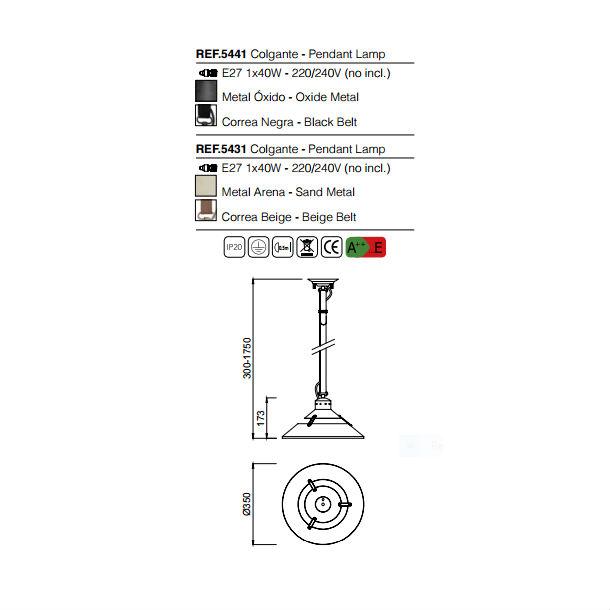 lampara-industrial-mantra-5441-5431-esquema