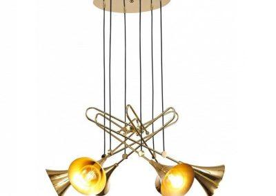Mantra JAZZ Lámpara colgante 6L oro