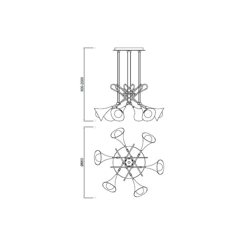 lampara-colgante-jazz-mantra-oro-6l-e27-ayora-iluminacion-dimensiones