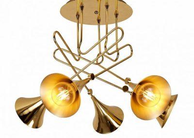 Mantra JAZZ Lámpara semiplafón 5L oro