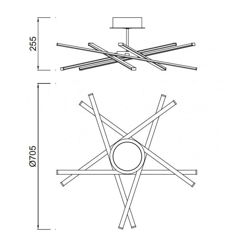 lampara-plafon-mantra-star-plata-cromo-led-5918-dimmable-regulable-ayora-iluminacion-dimensiones