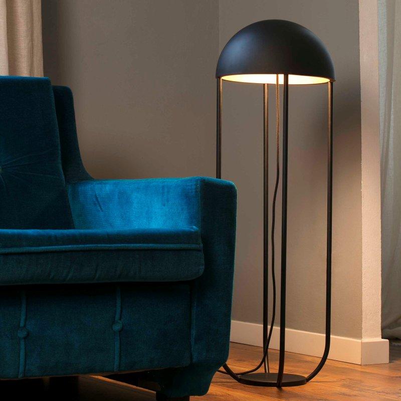 lampara-pie-jellyfish-led-faro-negro-ayora-iluminacion