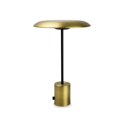 lampara-portatil-sobremesa-hoshi-led-faro-barcelona-oro-satinado-negro-ayora-iluminacion