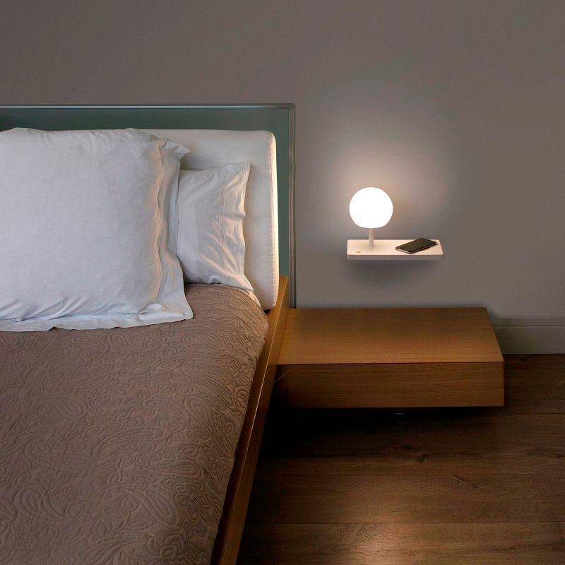 Lámpara aplique Niko LED de Faro (con cargador inalámbrico y USB)
