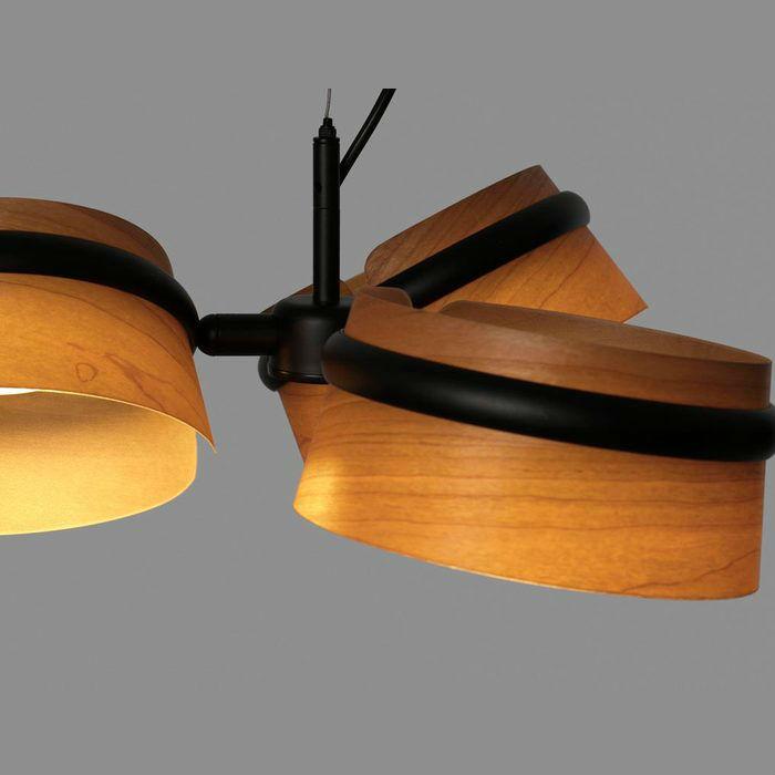 lampara-colgante-loop-led-faro-29567-negra-madera-cerezo-ayora-iluminacion-detalle