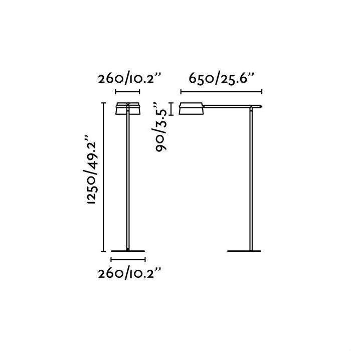 lampara-pie-loop-led-faro-29569-ayora-iluminacion-dimensiones
