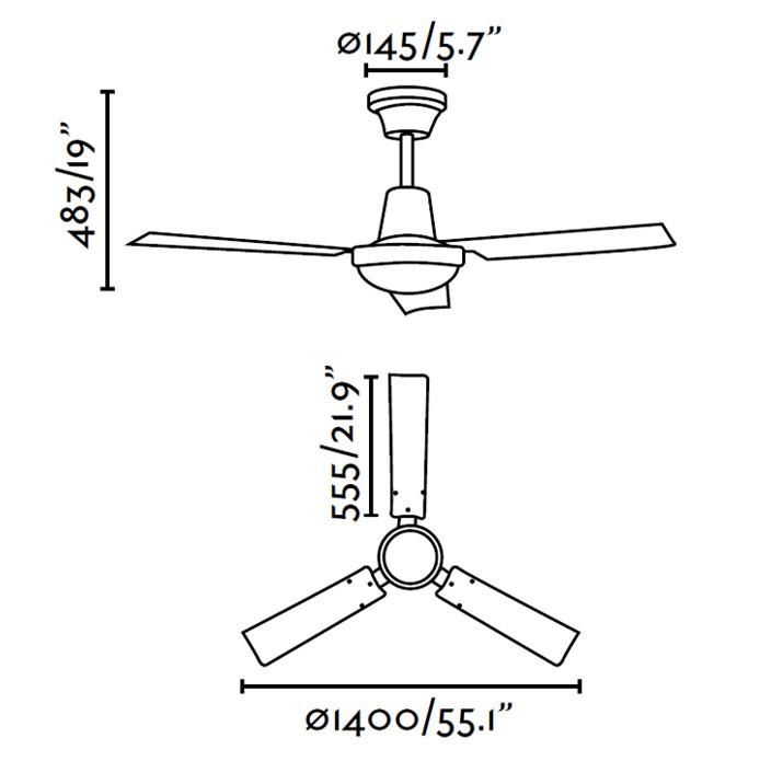 faro-indus-ventilador-de-techo-sin-luz-ayora-iluminacion-dimensiones