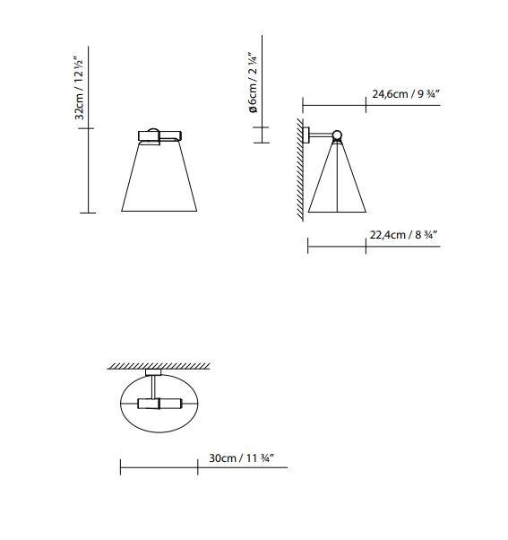 lampara-aplique-cone-light-w-blux-ayora-iluminacion-dimensiones