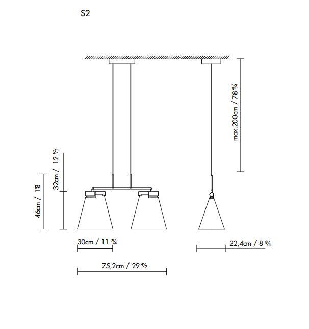 lampara-colgante-cone-light-s2-blux-ayora-iluminacion-dimensiones