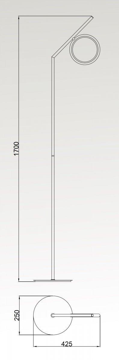 lampara-pie-mantra-olimpia-led-ayora-iluminacion-dimensiones