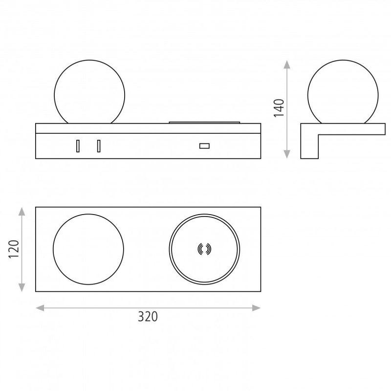 sylvana-aplique-led-3000k-blanco-usb-ayora-iluminacion-dimensiones